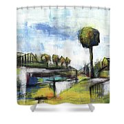 Memories From The Park Shower Curtain