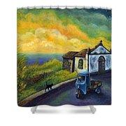 Memories Neath A Yellow Sky Shower Curtain