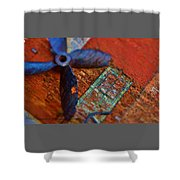Memories Of A Fishing Town. Shower Curtain