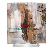 memories of an Irish cottge Shower Curtain