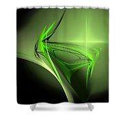 Memories Of Green Shower Curtain