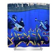 Memphis Blues Shower Curtain