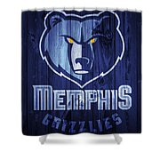Memphis Grizzlies Barn Door Shower Curtain