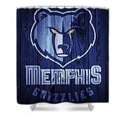 Memphis Grizzlies Barn Door Shower Curtain