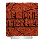 Memphis Grizzlies Leather Art Shower Curtain