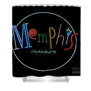Memphis Neon Sign Shower Curtain