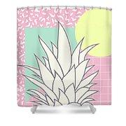 Memphis Pineapple Top Shower Curtain