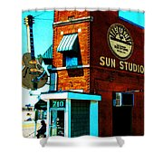 Memphis Sun Studio Birthplace Of Rock And Roll 20160215sketch Shower Curtain