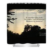 Memphis Sunset Haiku Shower Curtain by Leona Atkinson
