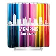 Memphis Tn 2 Squared Shower Curtain