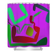 Memory Cube Shower Curtain
