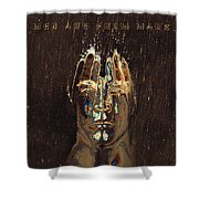 Men Are From Mars Gold Shower Curtain