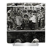 Men At Play Shower Curtain