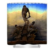 Men Of Greece Shower Curtain