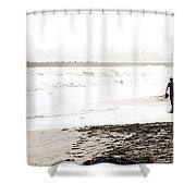 Men On Beach Shower Curtain