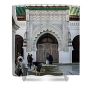 Men Performing Ablutions Prior Shower Curtain