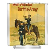 Men Wanted For The Army Shower Curtain by War Is Hell Store