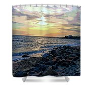 Menauhant Abstracted Sunset Shower Curtain
