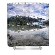 Mendenhall Lake Shower Curtain