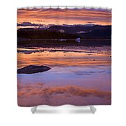 Mendenhall Sunset Shower Curtain