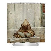 Mendicant In Meditation Shower Curtain