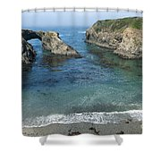 Mendicino County Viewpoint Shower Curtain