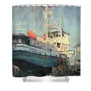 In Dry Dock Shower Curtain