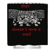 Mending Wall Transparent Background Shower Curtain