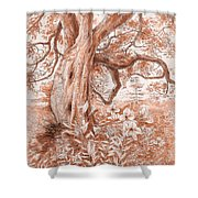 Mendocino Friend Shower Curtain