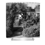 Mendocino Gate Bw Shower Curtain