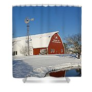 Menno Hof In The Snow 2 Shower Curtain
