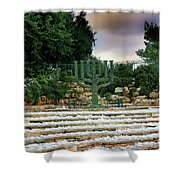 Menorah At Knesset Shower Curtain