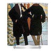 Mens Fashion, 1919 Shower Curtain