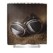 Mens Formalwear Cufflinks Shower Curtain