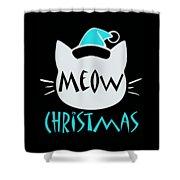 Meow Christmas Shower Curtain