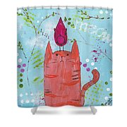Meow Song Shower Curtain
