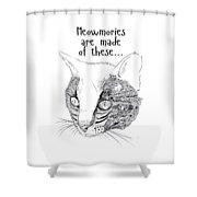 Meowmories Shower Curtain