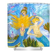 Mer Mum And Comb Shower Curtain