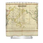 Mercator's Chart Shower Curtain