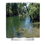 Merced River Banks Shower Curtain