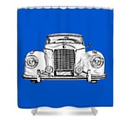 Mercedes Benz 300 Luxury Car Illustration Shower Curtain