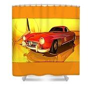 Mercedes-benz 300 Sl Red Shower Curtain