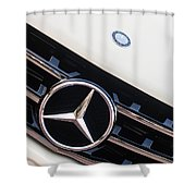 Mercedes-benz Emblem - Grille Logo -0030c Shower Curtain