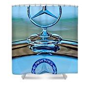 Mercedes Benz Hood Ornament Shower Curtain