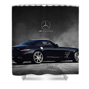 Mercedes Benz Sls Amg Shower Curtain