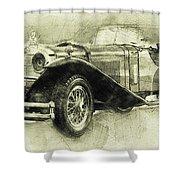 Mercedes-benz Ssk 1 - 1928 - Automotive Art - Car Posters Shower Curtain