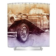 Mercedes-benz Ssk 2 - 1928 - Automotive Art - Car Posters Shower Curtain