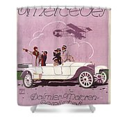 Mercedes Daimler C. 1910 Shower Curtain