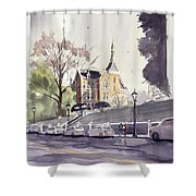 Mercer's Godsey Building Shower Curtain
