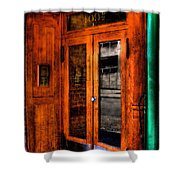 Merchants Cafe Doors Shower Curtain